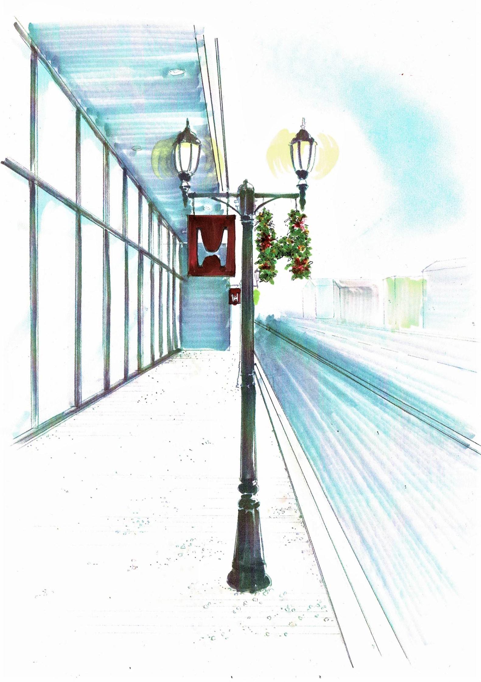 ホンダカーズ一宮店 街灯ポール装飾クリスマスver
